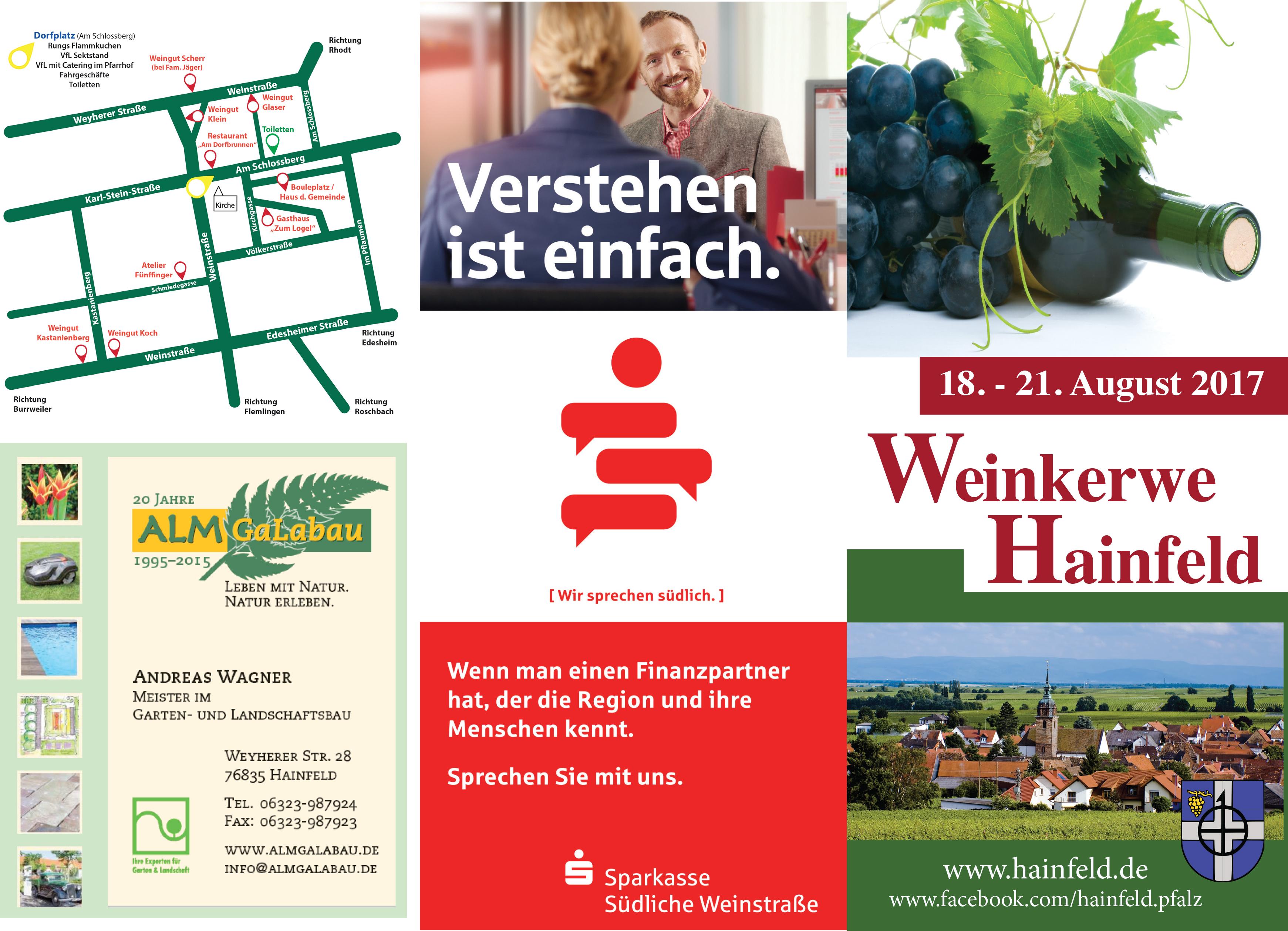 Hainfelder Weinkerwe – Flyer 2017 | Hainfeld
